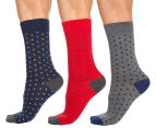 Ben Sherman Men's Boxed Sock Set 3-Pack - Grey/Navy/Red 1