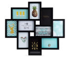 10-Photo Gallery Collage Frame - Black 1