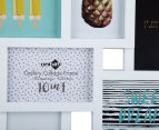 10-Photo Gallery Collage Frame - White 4