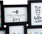 8-Photo Gallery Collage Frame - Black 4