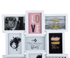 12-Photo Gallery Collage Frame - White 4