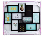 10-Photo Gallery Collage Frame - Black 6