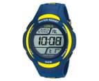 LORUS Youths' 46mm Digital Watch - Blue/Yellow 1