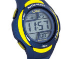 LORUS Youths' 46mm Digital Watch - Blue/Yellow 2