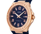 LORUS Men's 46mm Watch - Navy/Rose Gold 3