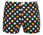 Happy Socks Men's Big Dot Boxer - Black/Multi 1