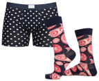 Happy Socks Men's Boxer Brief & Sock Pack - Paisley 1