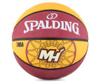 SPALDING NBA Miami Heat Basketball - Size 7 1