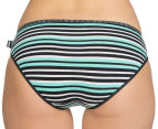 Bonds Women's Hipster Bikini 2-Pack - Black & Green Stripe/Purple 5