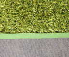 Metallic 80x50cm Chunky & Thin Shag Rug - Lime 4