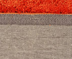 Monroe 165x115cm Super Soft Microfibre Shag Rug - Rust 5