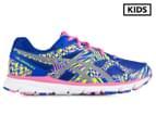 ASICS Grade-School Kids' GEL-Lightplay 2 GS Shoe - Blue Purple/Silver/Flash Yellow 1