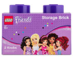 LEGO® Friends Storage Brick w/ 2 Knobs - Purple 1