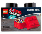 LEGO® Movie Storage Brick w/ 4 Knobs - Black 1