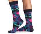 Happy Socks Men's EU Size 41-46 Bark Crew Socks - Pink/Multi 1