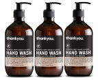3 x Thankyou. Hand Wash Orange & Almond 500mL 1