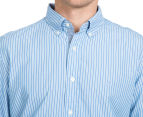 Nautica Men's Long Sleeve Stripe Shirt - Porthole Blue 6