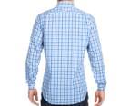 Nautica Men's Long Sleeve Plaid Shirt - Spinner Blue 5