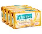 3 x Palmolive Naturals Replenishing Soap Bars Milk & Honey 90g 4pk 3