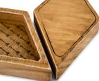 3-Part Decorative Timber Trays - Brown 6