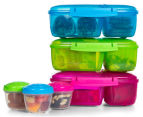 Sistema 2L Triple Split Lunchbox w/ Yoghurt Pot - Randomly Selected Colour 1