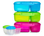 Sistema 2L Triple Split Lunchbox w/ Yoghurt Pot - Randomly Selected Colour 2