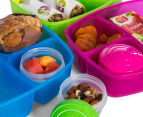 Sistema 2L Triple Split Lunchbox w/ Yoghurt Pot - Randomly Selected Colour 6