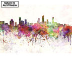 Gold Coast Skyline Watercolour 90x59cm Canvas Wall Art 1