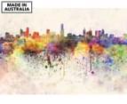 Watercolour City 90x59cm Canvas Wall Art 1