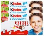 3 x Kinder Chocolate 8pk 1