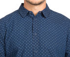 Globe Men's Hawk Long Sleeve Shirt - Indigo 6