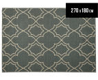 Geometric 270x180cm UV Treated Indoor/Outdoor Rug - Grey 1