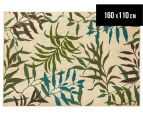 Colour Leaves 160x110cm UV Treated Indoor/Outdoor Rug - Multi 1