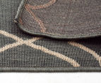 Geometric 220x150cm UV Treated Indoor/Outdoor Rug - Grey 6