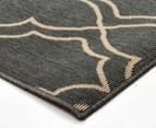Geometric 270x180cm UV Treated Indoor/Outdoor Rug - Grey 2