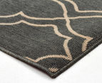 Geometric 320x230cm UV Treated Indoor/Outdoor Rug - Grey 2