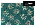 Branches 270x180cm UV Treated Indoor/Outdoor Rug - Teal 1