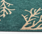 Branches 320x230cm UV Treated Indoor/Outdoor Rug - Teal 3
