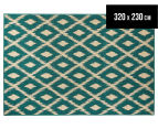 Diamonds 320x230cm UV Treated Indoor/Outdoor Rug - Teal 1