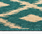 Diamonds 160x110cm UV Treated Indoor/Outdoor Rug - Teal 3