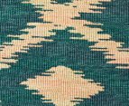 Diamonds 160x110cm UV Treated Indoor/Outdoor Rug - Teal 4