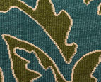 Falling Leaves 320x230cm UV Treated Indoor/Outdoor Rug - Green/Blue 4