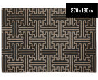 Columns 270x180cm UV Treated Indoor/Outdoor Rug - Brown 1