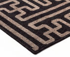 Columns 320x230cm UV Treated Indoor/Outdoor Rug - Brown 3