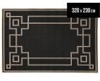 Borders 320x230cm UV Treated Indoor/Outdoor Rug - Charcoal 1