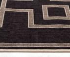 Borders 320x230cm UV Treated Indoor/Outdoor Rug - Charcoal 3