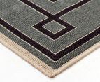 Borders 320x230cm UV Treated Indoor/Outdoor Rug - Grey 2