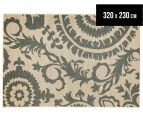 Floral Medallion 320x230cm UV Treated Indoor/Outdoor Rug - Cream 1