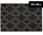 Geometric 320x230cm UV Treated Indoor/Outdoor Rug - Charcoal 1