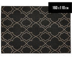 Geometric 160x110cm UV Treated Indoor/Outdoor Rug - Charcoal 1